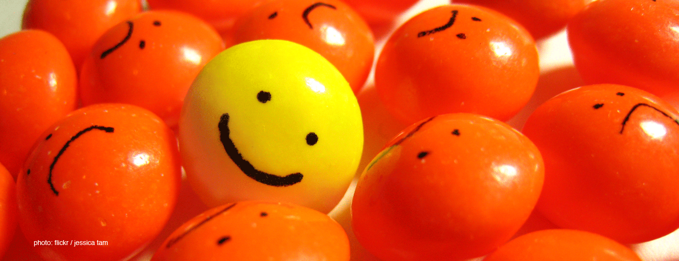smiley in frowns