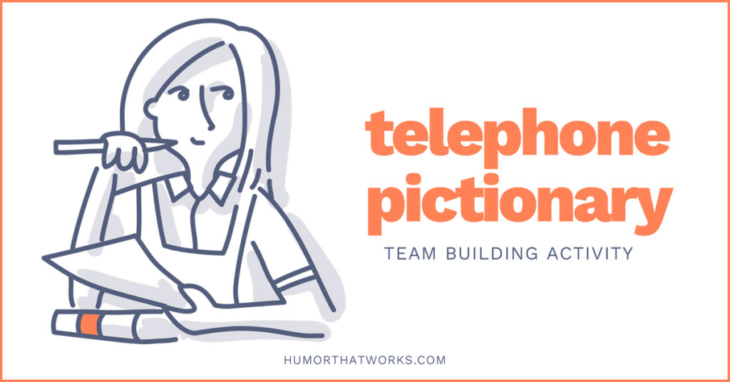 telephone-pictionary-team-building-activities