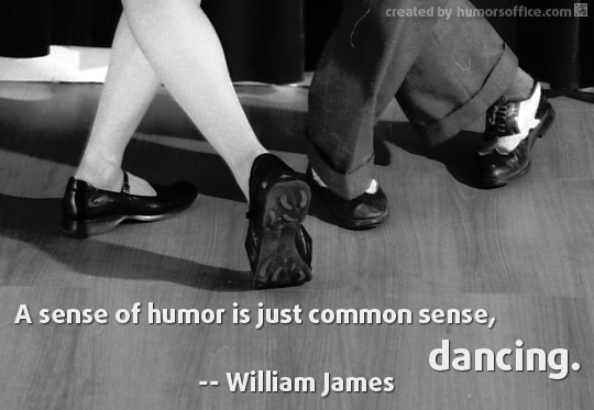 humor quotation william james