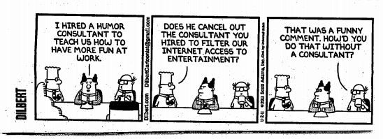 dilbert on humor consultants