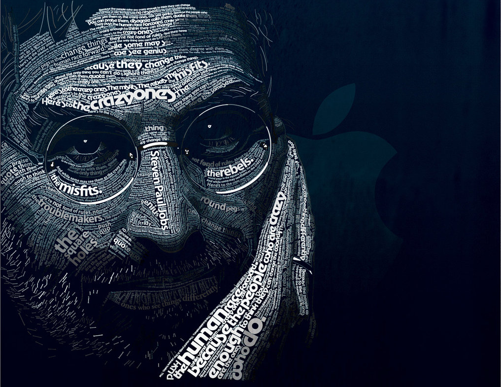 steve jobs typography art