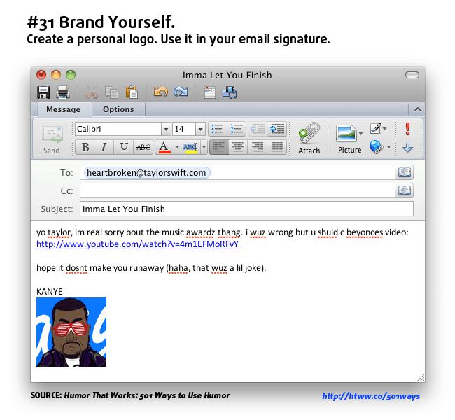 email signature humor branding