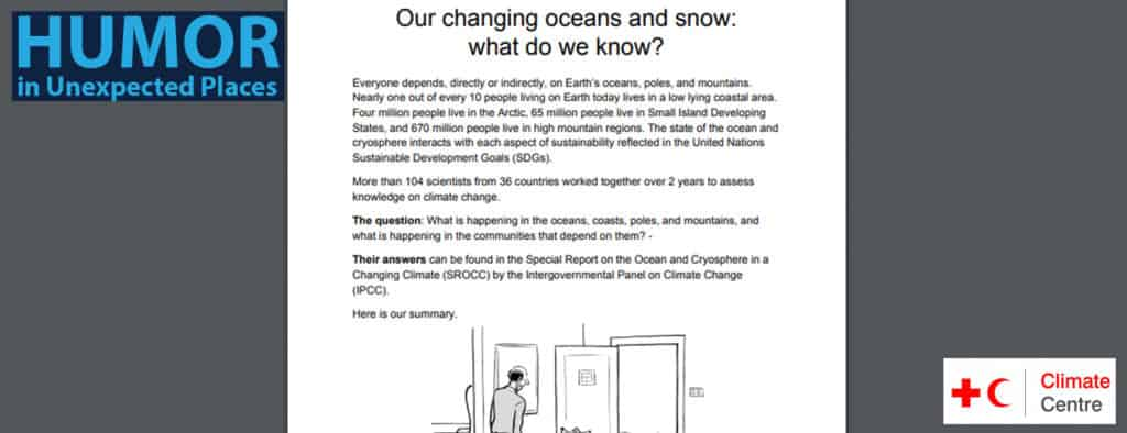 humor special report on changing climate