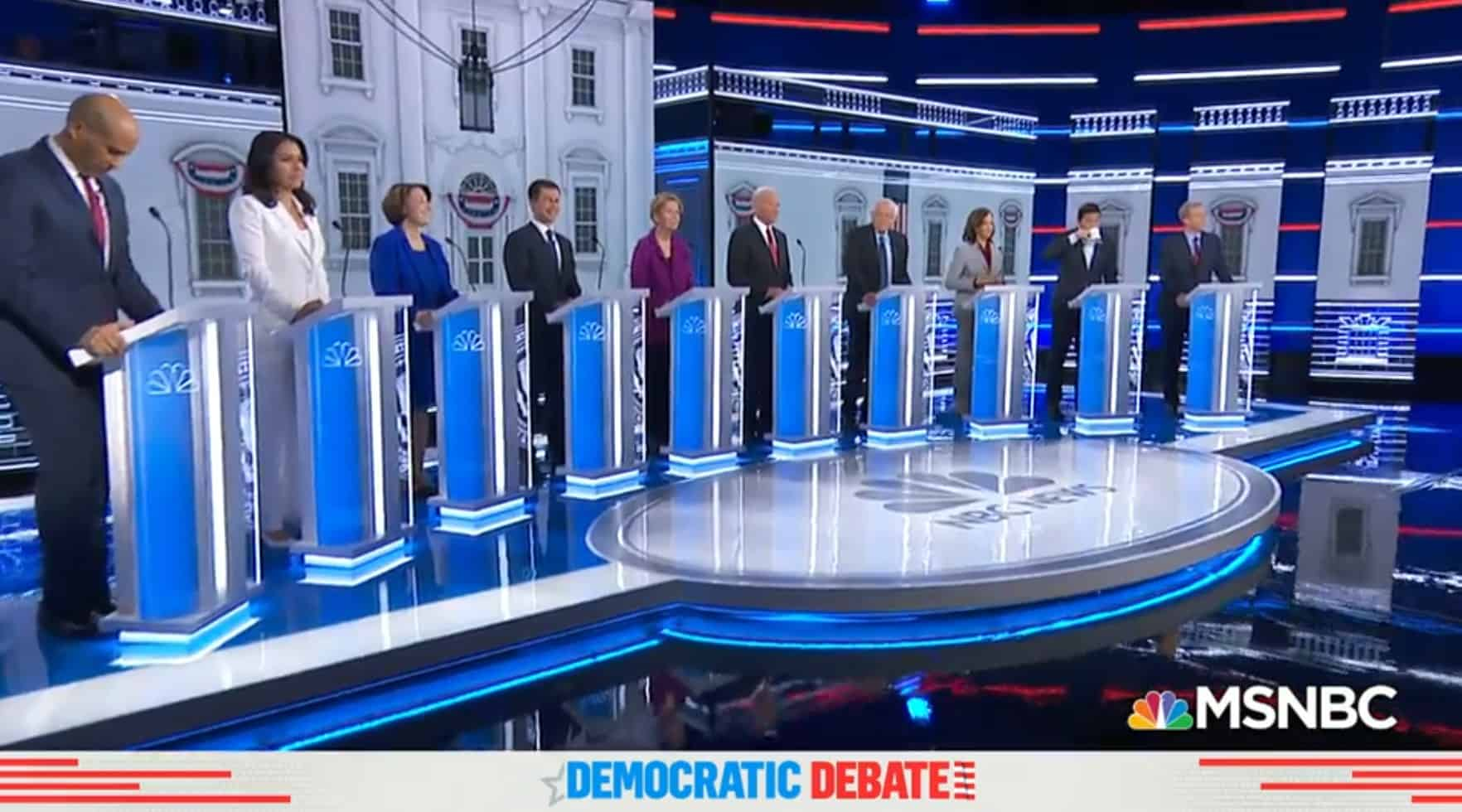 humor at democratic debate november