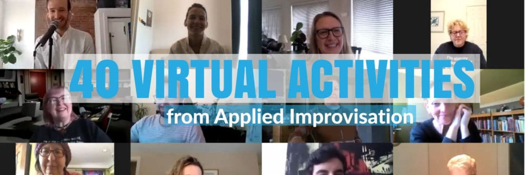 virtual activities applied improv