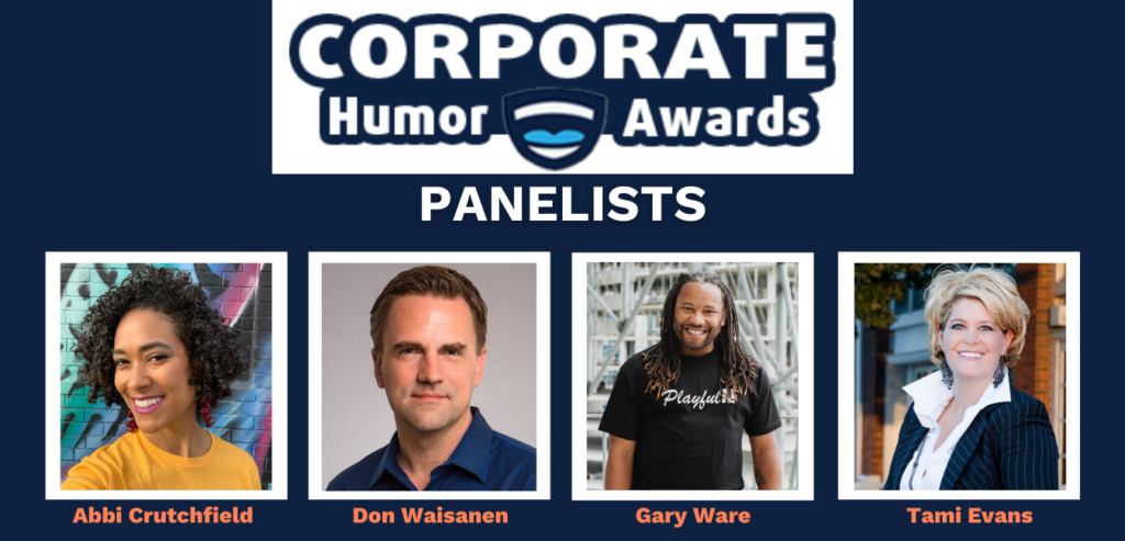 2021 Humor Awards Panelists - Abbi, Don, Gary, Tami